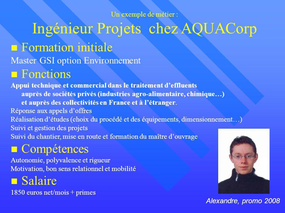 Un exemple de métier : Ingénieur Projets chez AQUACorp