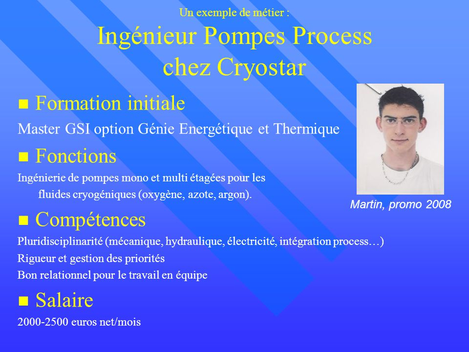 Un exemple de métier : Ingénieur Pompes Process chez Cryostar