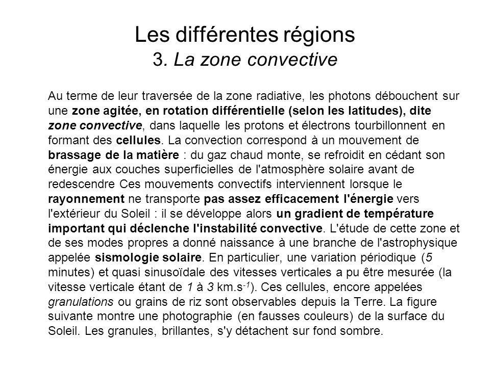 Les différentes régions 3. La zone convective