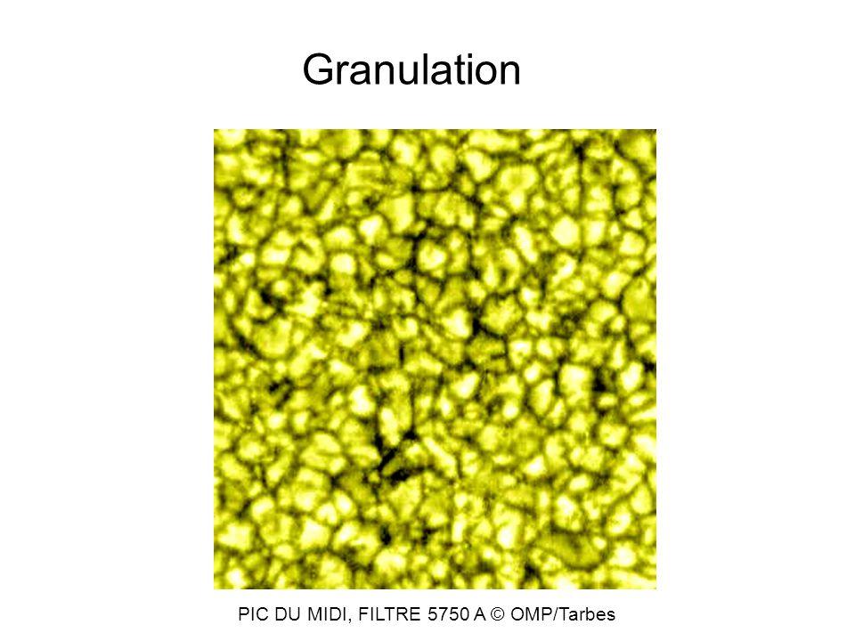 Granulation PIC DU MIDI, FILTRE 5750 A © OMP/Tarbes