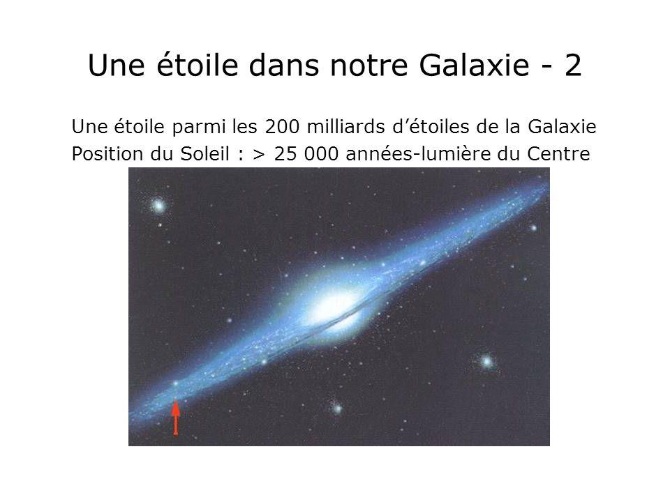 Une étoile dans notre Galaxie - 2