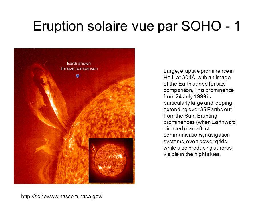 Eruption solaire vue par SOHO - 1