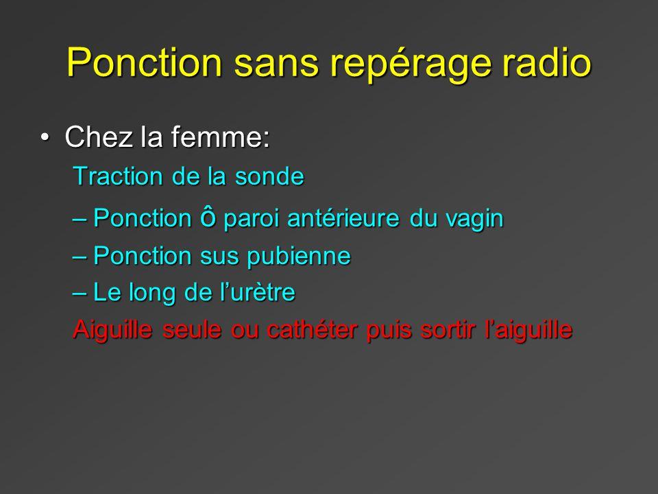 Ponction sans repérage radio