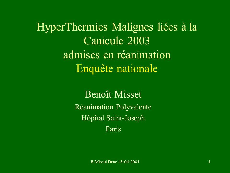 Benoît Misset Réanimation Polyvalente Hôpital Saint-Joseph Paris