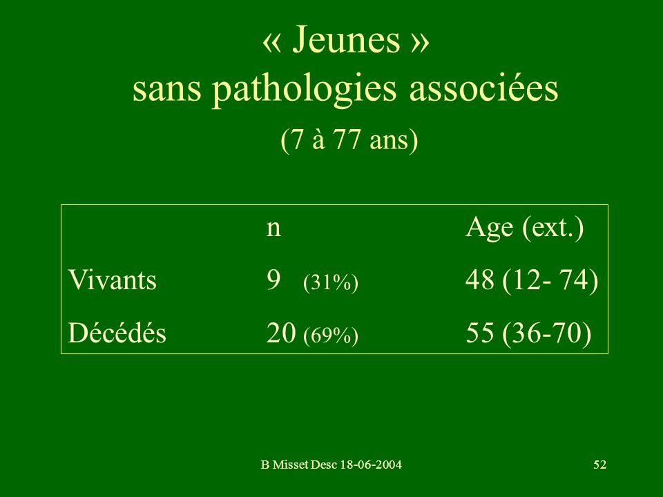 « Jeunes » sans pathologies associées (7 à 77 ans)
