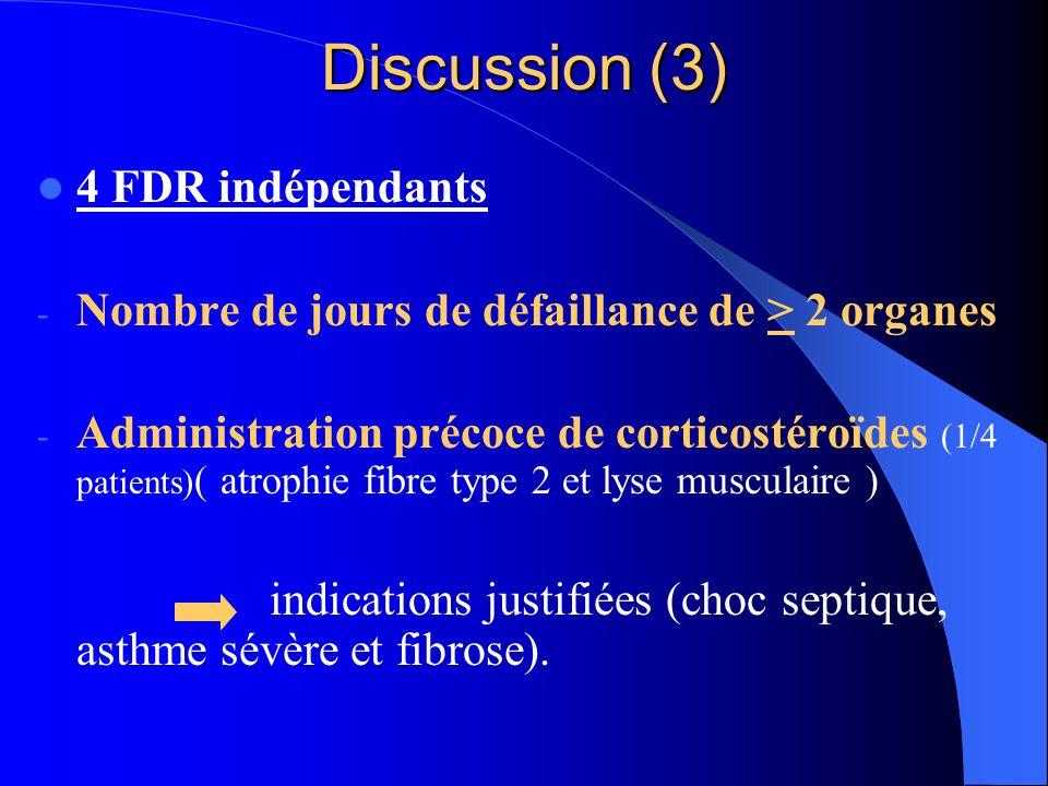 Discussion (3) 4 FDR indépendants