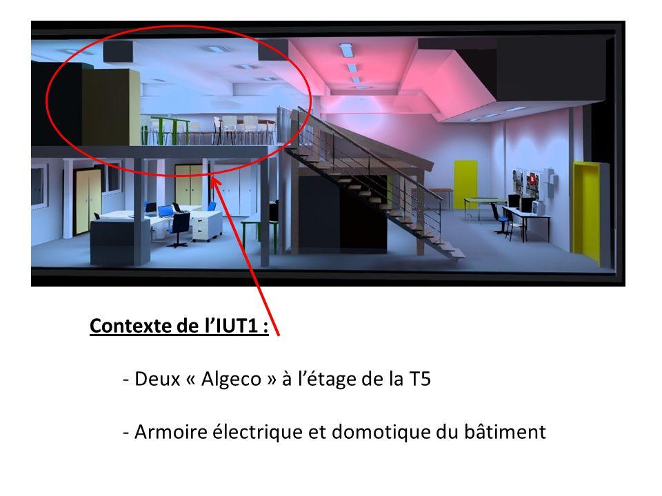 Contexte de l'IUT1 : Deux « Algeco » à l'étage de la T5 Armoire électrique et domotique du bâtiment