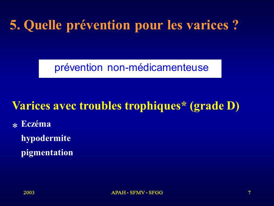 5. Quelle prévention pour les varices