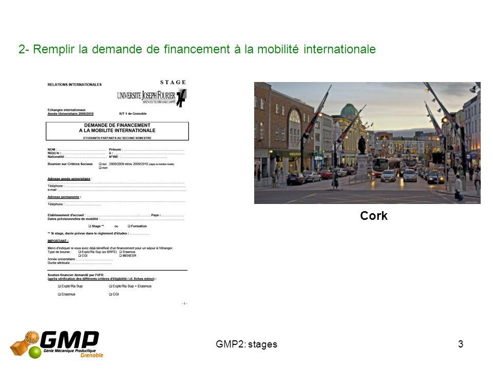 2- Remplir la demande de financement à la mobilité internationale