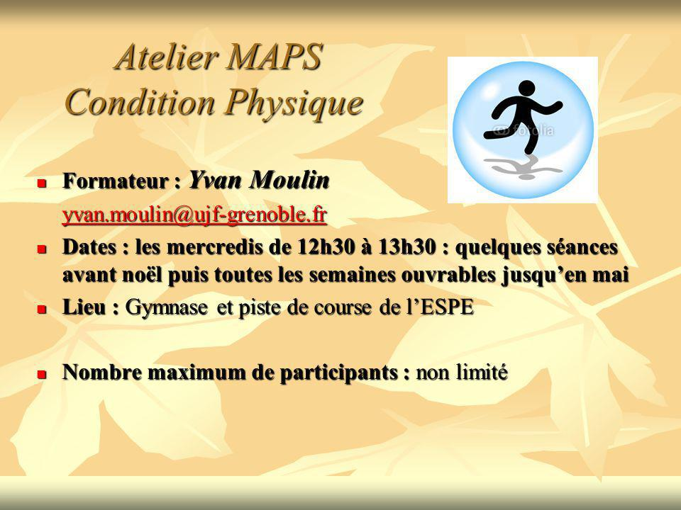 Atelier MAPS Condition Physique