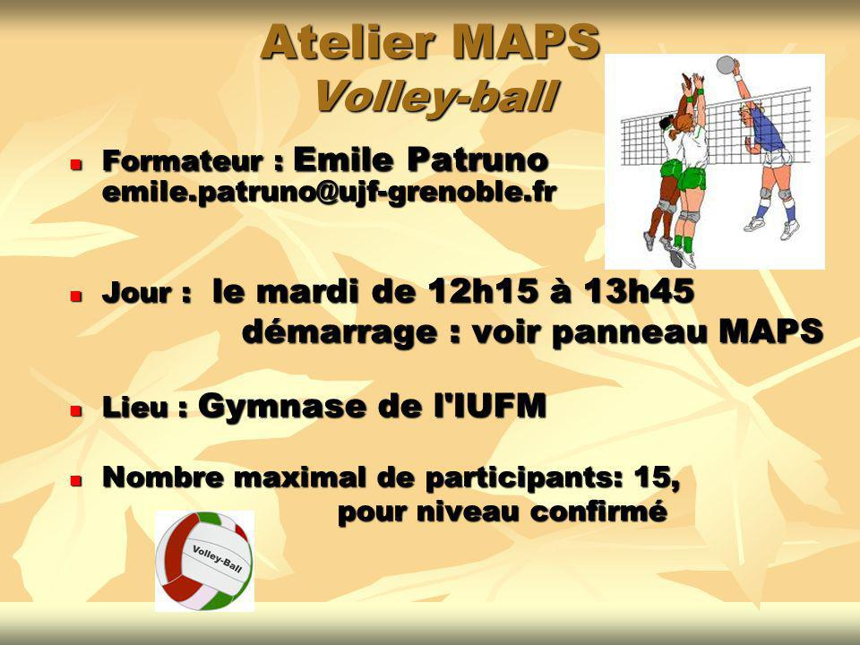 Atelier MAPS Volley-ball
