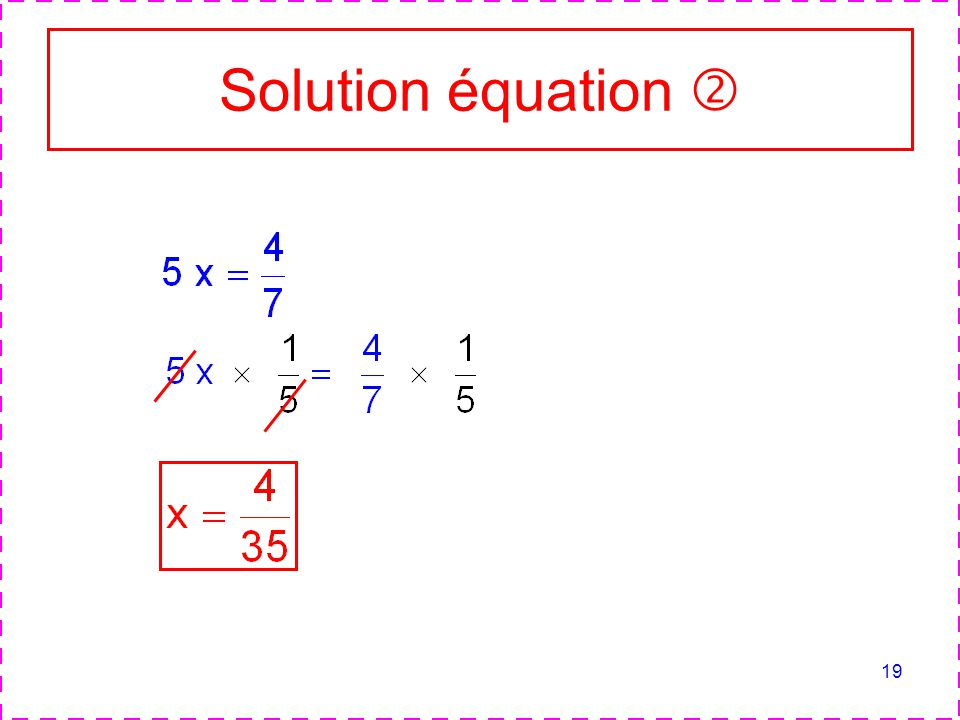 Solution équation 