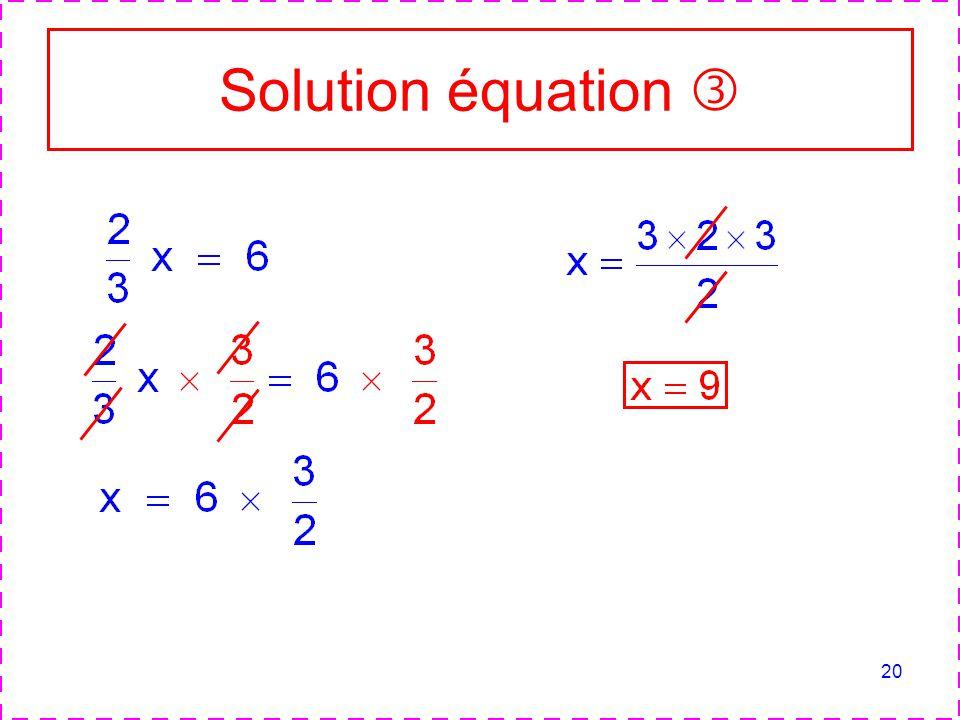 Solution équation 