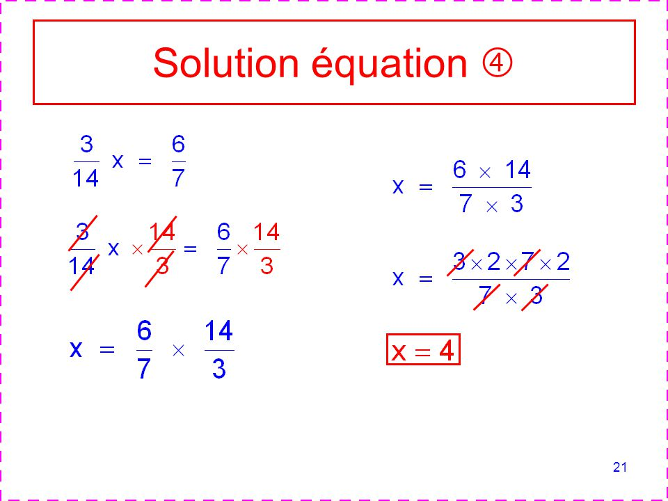 Solution équation 