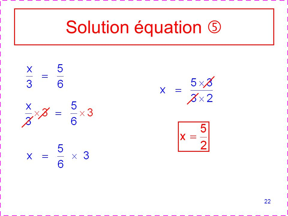 Solution équation 