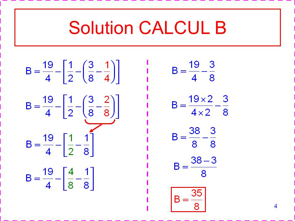 Solution CALCUL B