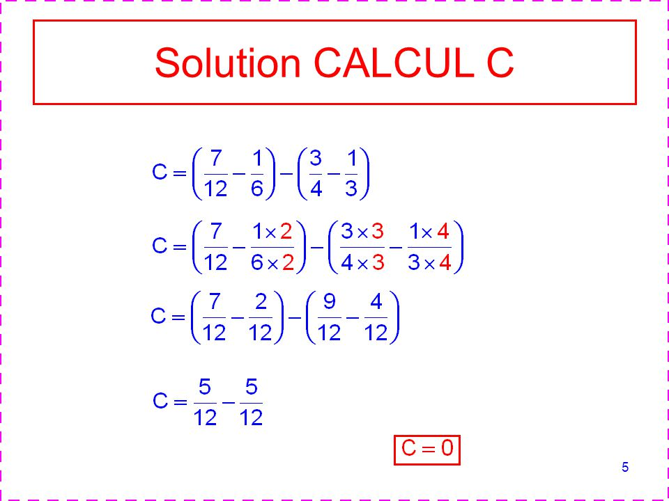 Solution CALCUL C