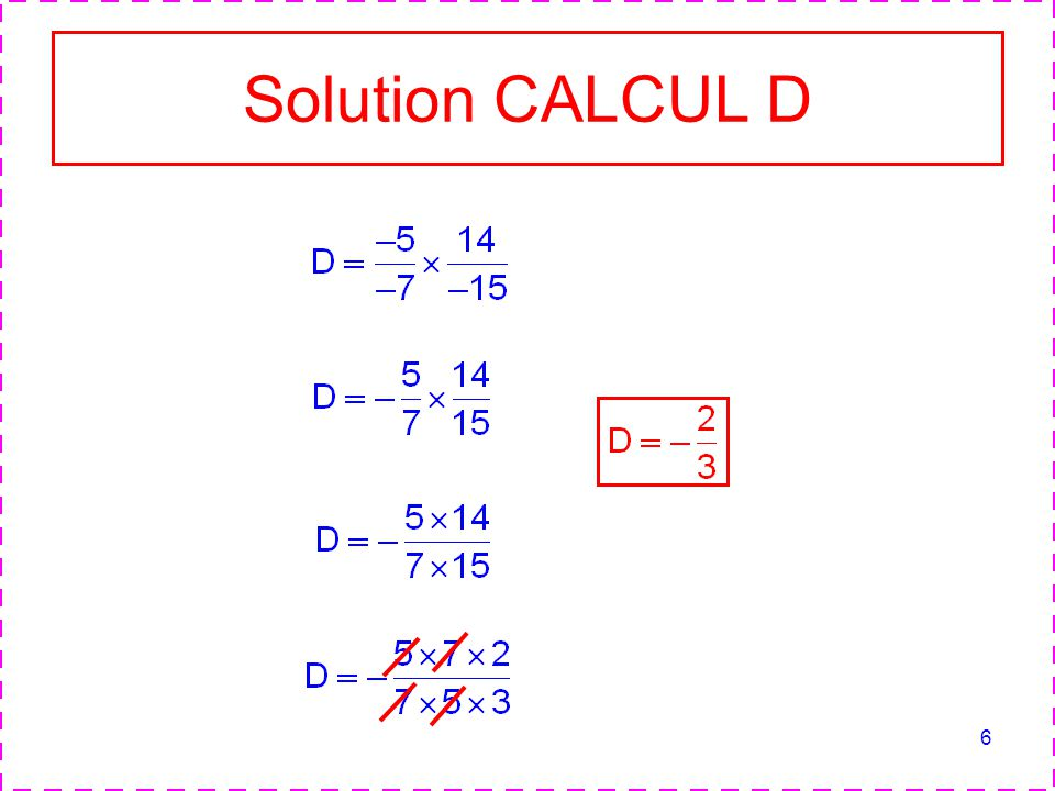 Solution CALCUL D