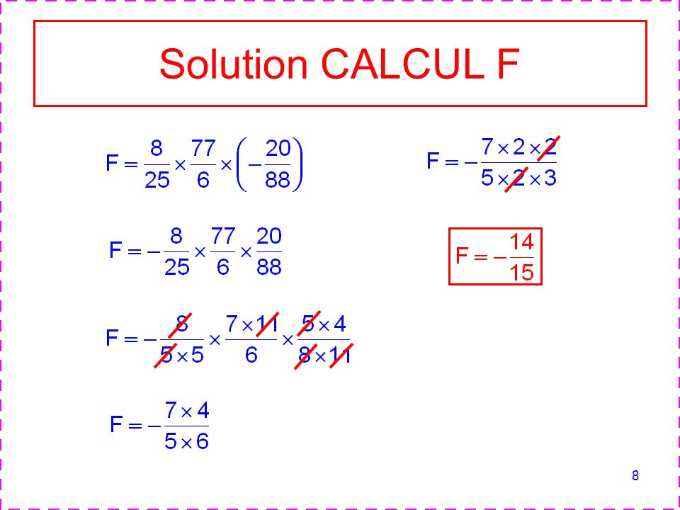 Solution CALCUL F