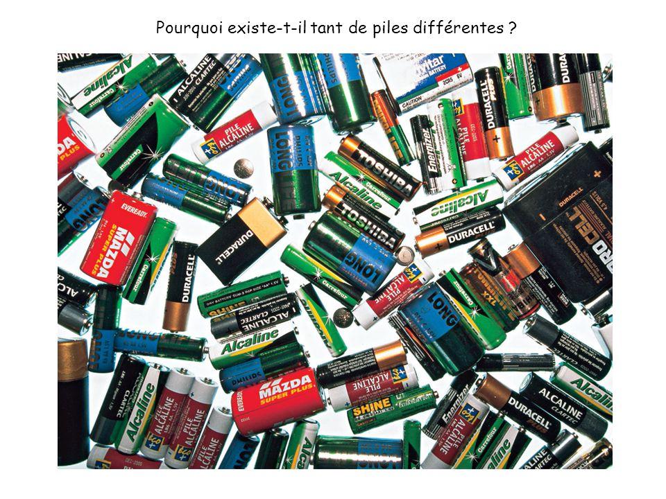 Pourquoi existe-t-il tant de piles différentes