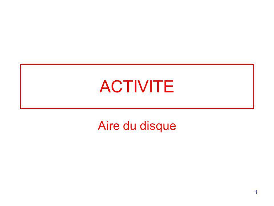 ACTIVITE Aire du disque