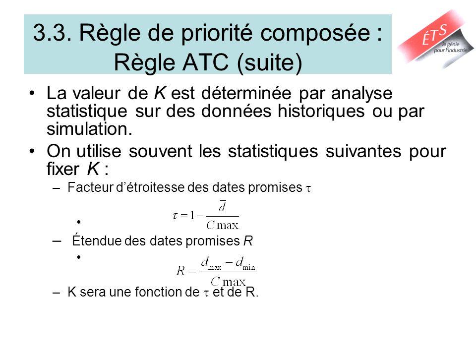 3.3. Règle de priorité composée : Règle ATC (suite)