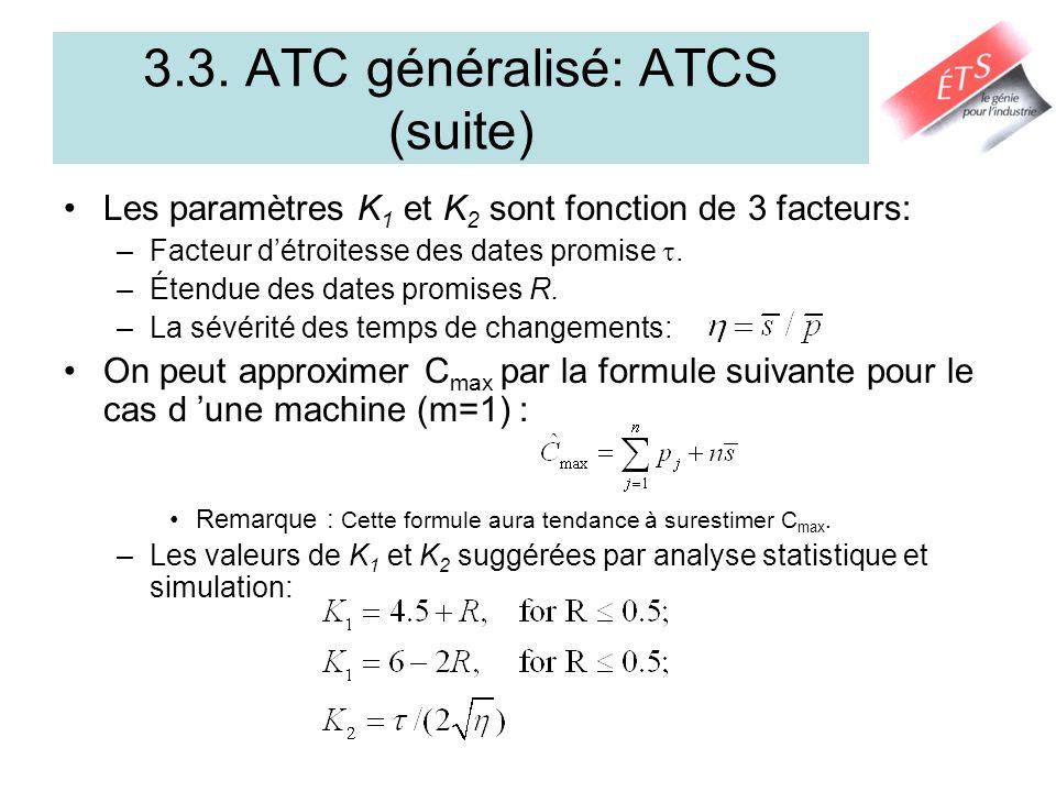 3.3. ATC généralisé: ATCS (suite)