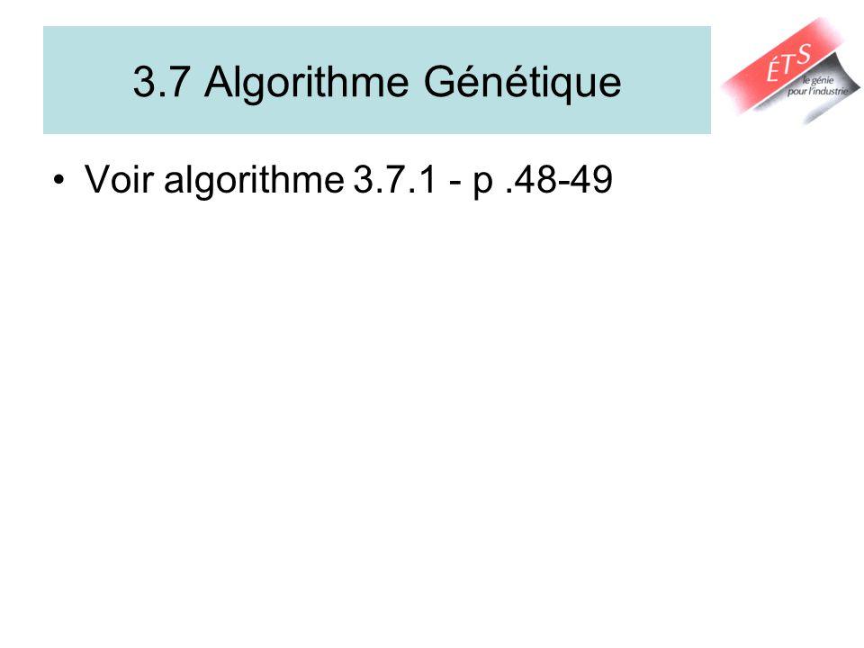 3.7 Algorithme Génétique Voir algorithme 3.7.1 - p .48-49