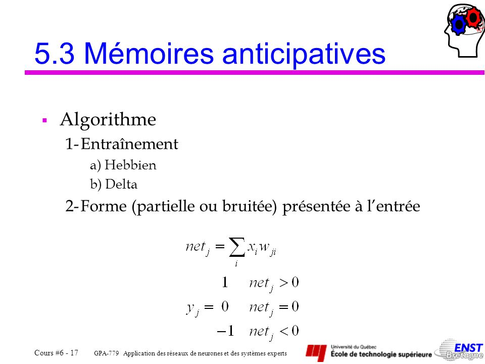5.3 Mémoires anticipatives
