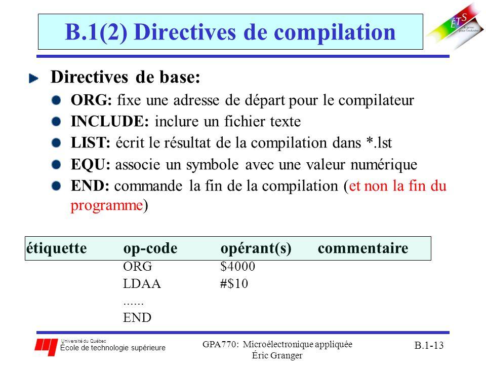 B.1(2) Directives de compilation