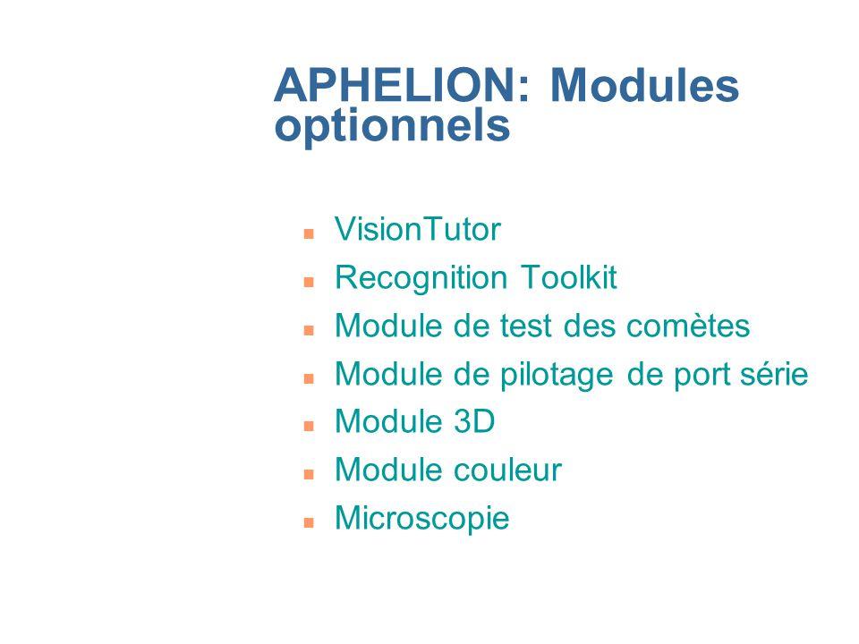 APHELION: Modules optionnels