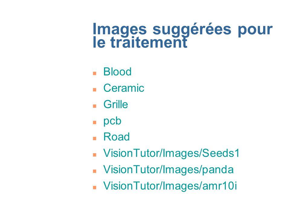 Images suggérées pour le traitement