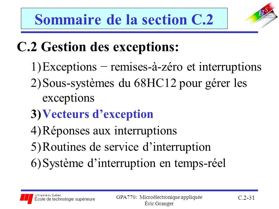 Sommaire de la section C.2