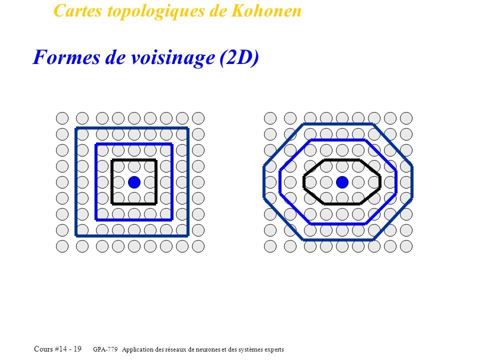 Formes de voisinage (2D)