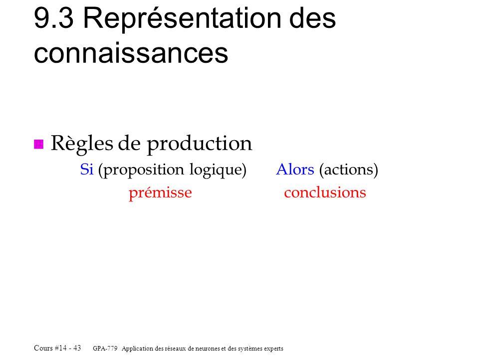 9.3 Représentation des connaissances