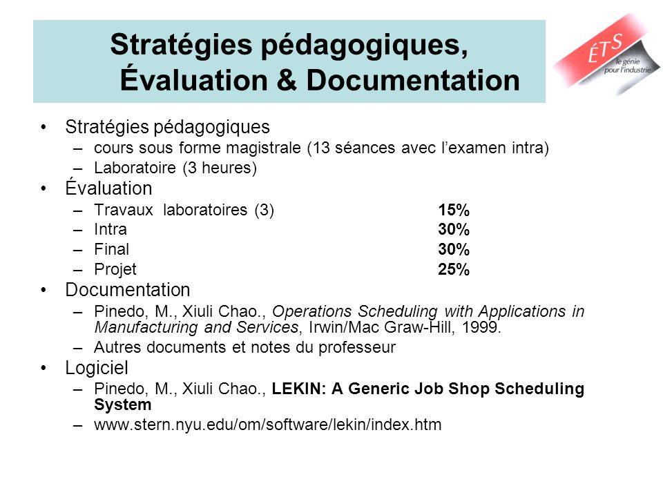 Stratégies pédagogiques, Évaluation & Documentation