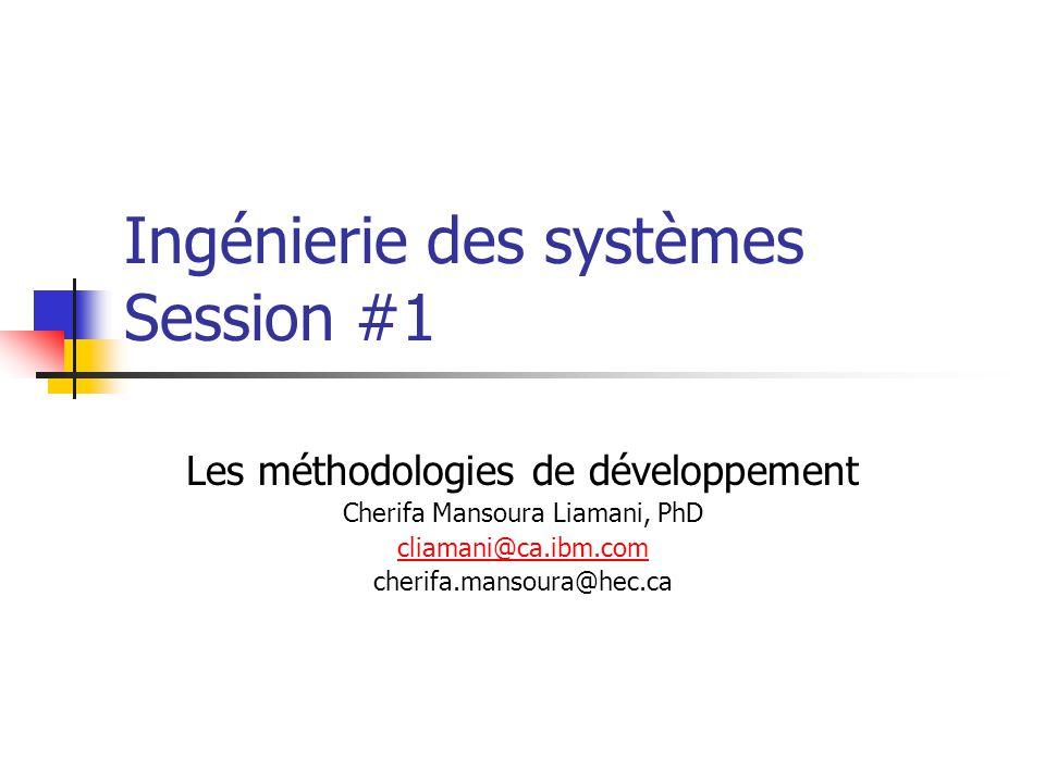 Ingénierie des systèmes Session #1