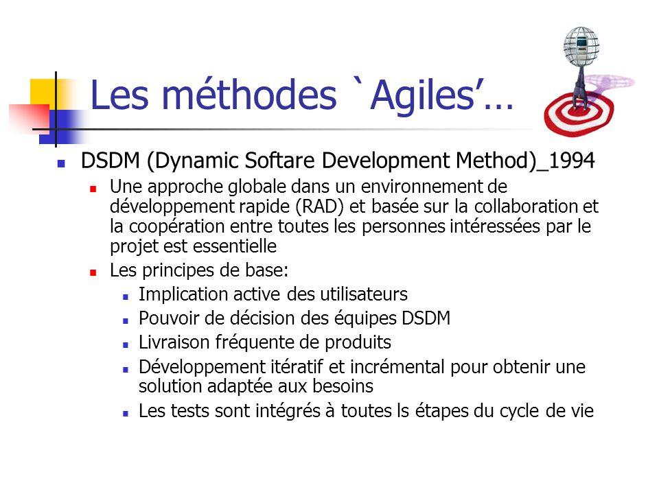 Les méthodes `Agiles'…