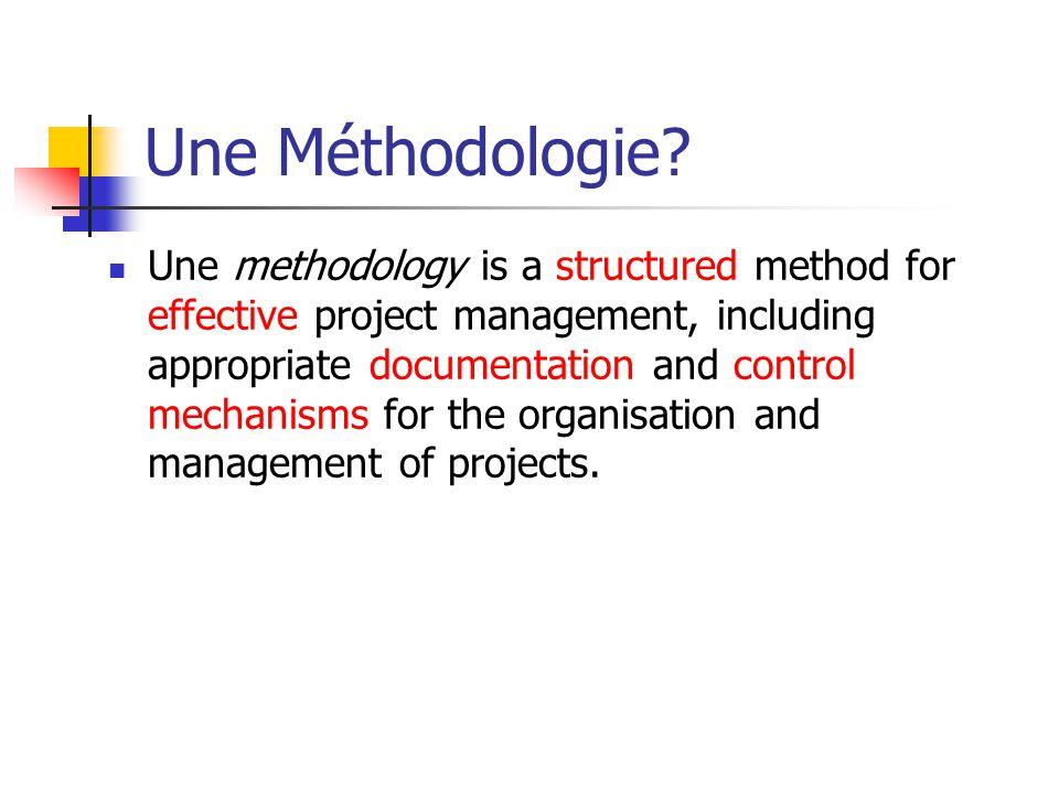 Une Méthodologie