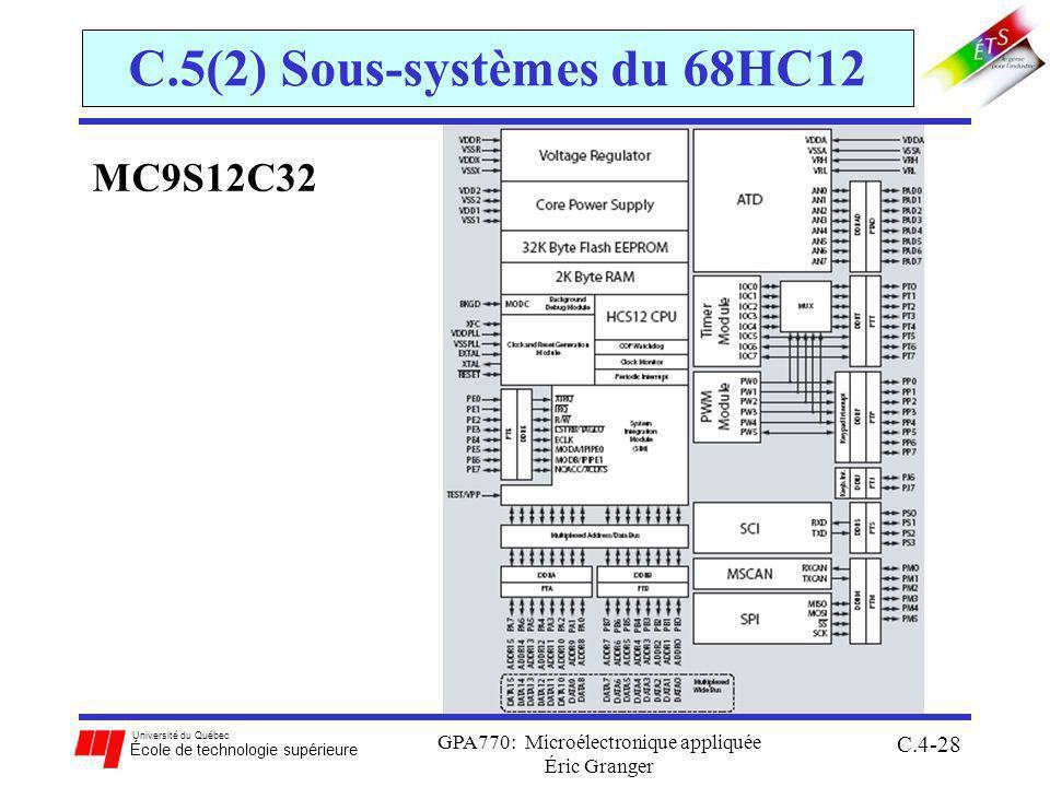 C.5(2) Sous-systèmes du 68HC12