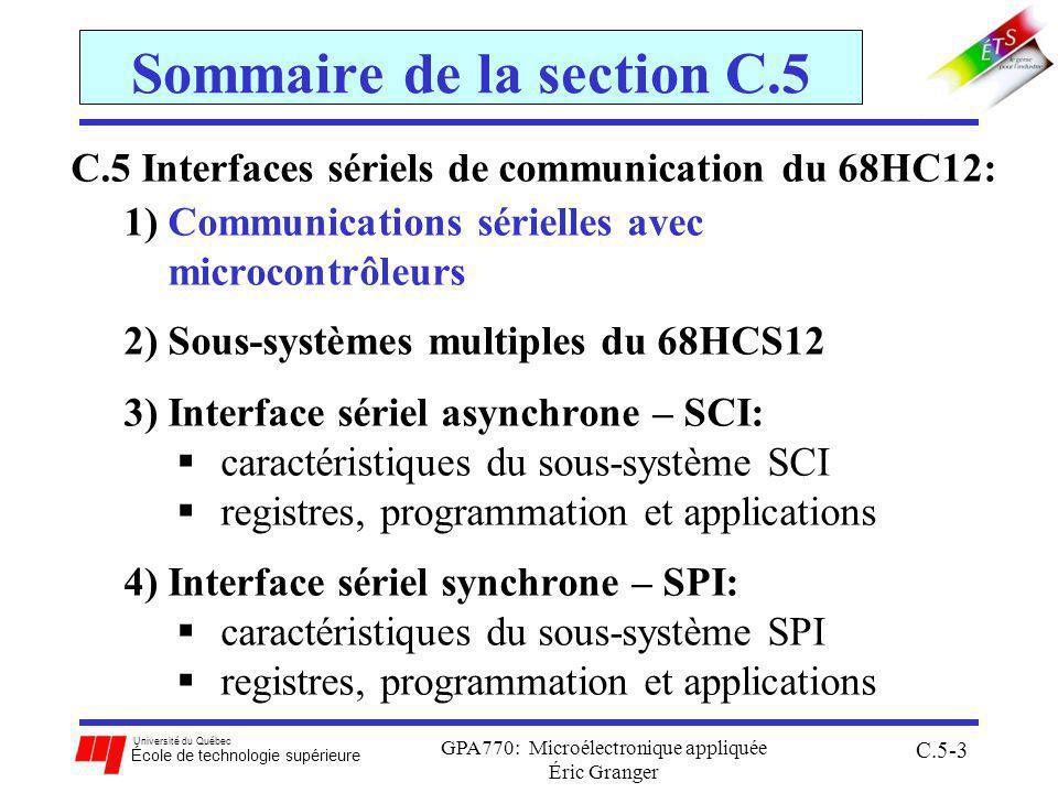 Sommaire de la section C.5
