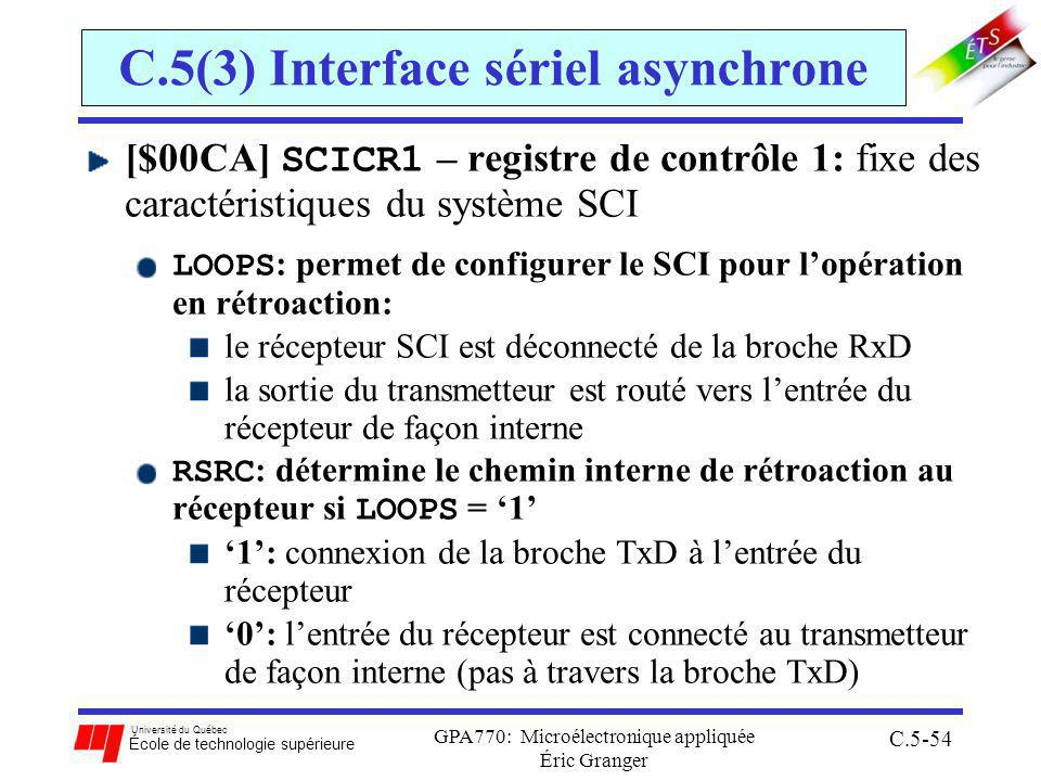C.5(3) Interface sériel asynchrone
