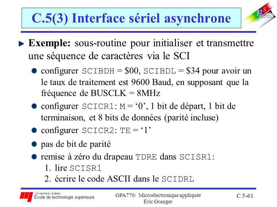 C.5(3) Interface sériel asynchrone