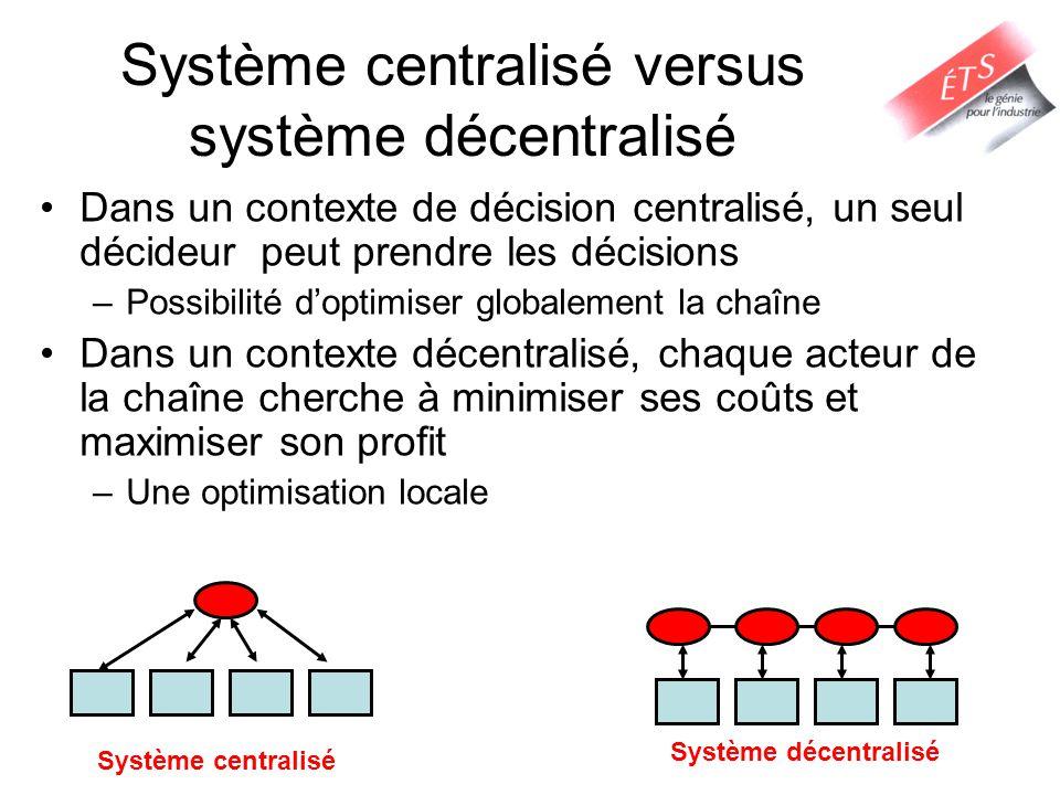 Système centralisé versus système décentralisé
