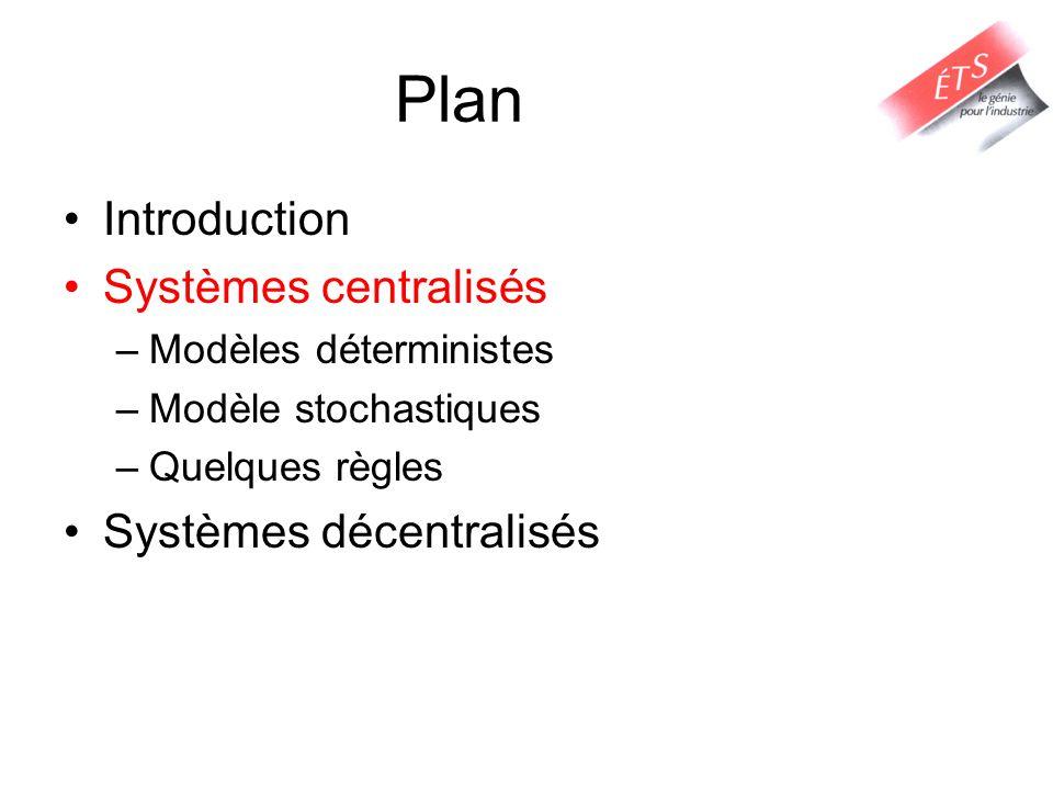 Plan Introduction Systèmes centralisés Systèmes décentralisés