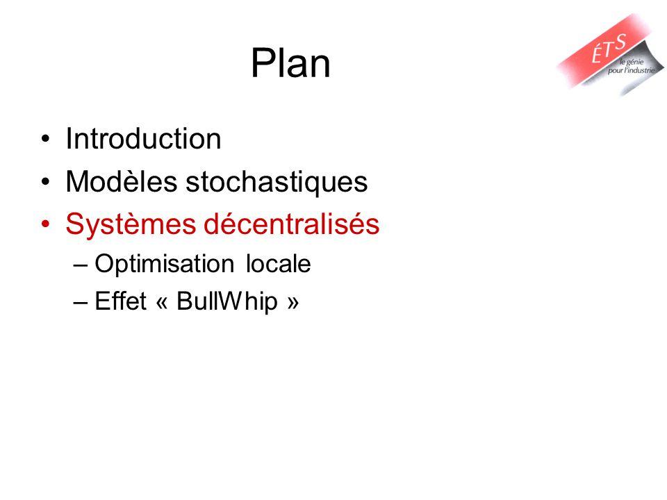 Plan Introduction Modèles stochastiques Systèmes décentralisés