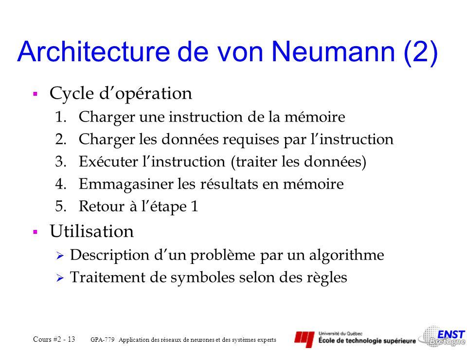 Architecture de von Neumann (2)