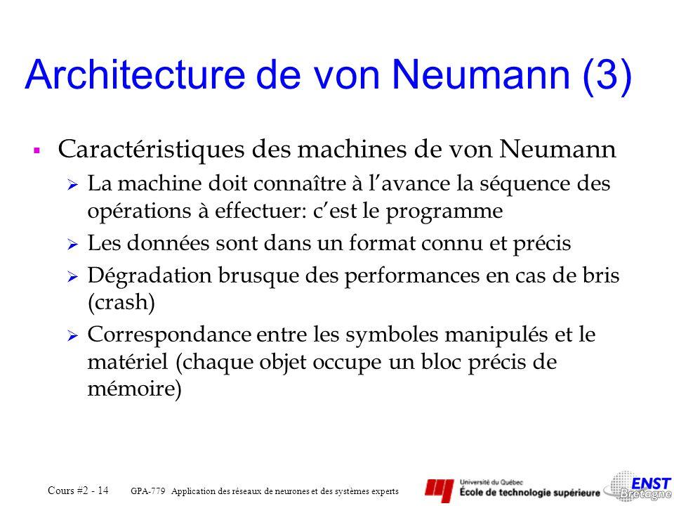 Architecture de von Neumann (3)