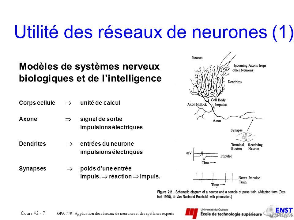Utilité des réseaux de neurones (1)