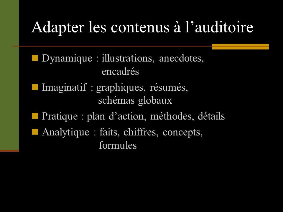 Adapter les contenus à l'auditoire